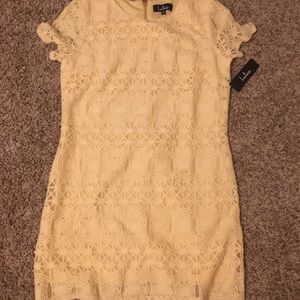 7931fc3df5 Lulu s Dresses - NWT Love you for eternity yellow lace shift dress